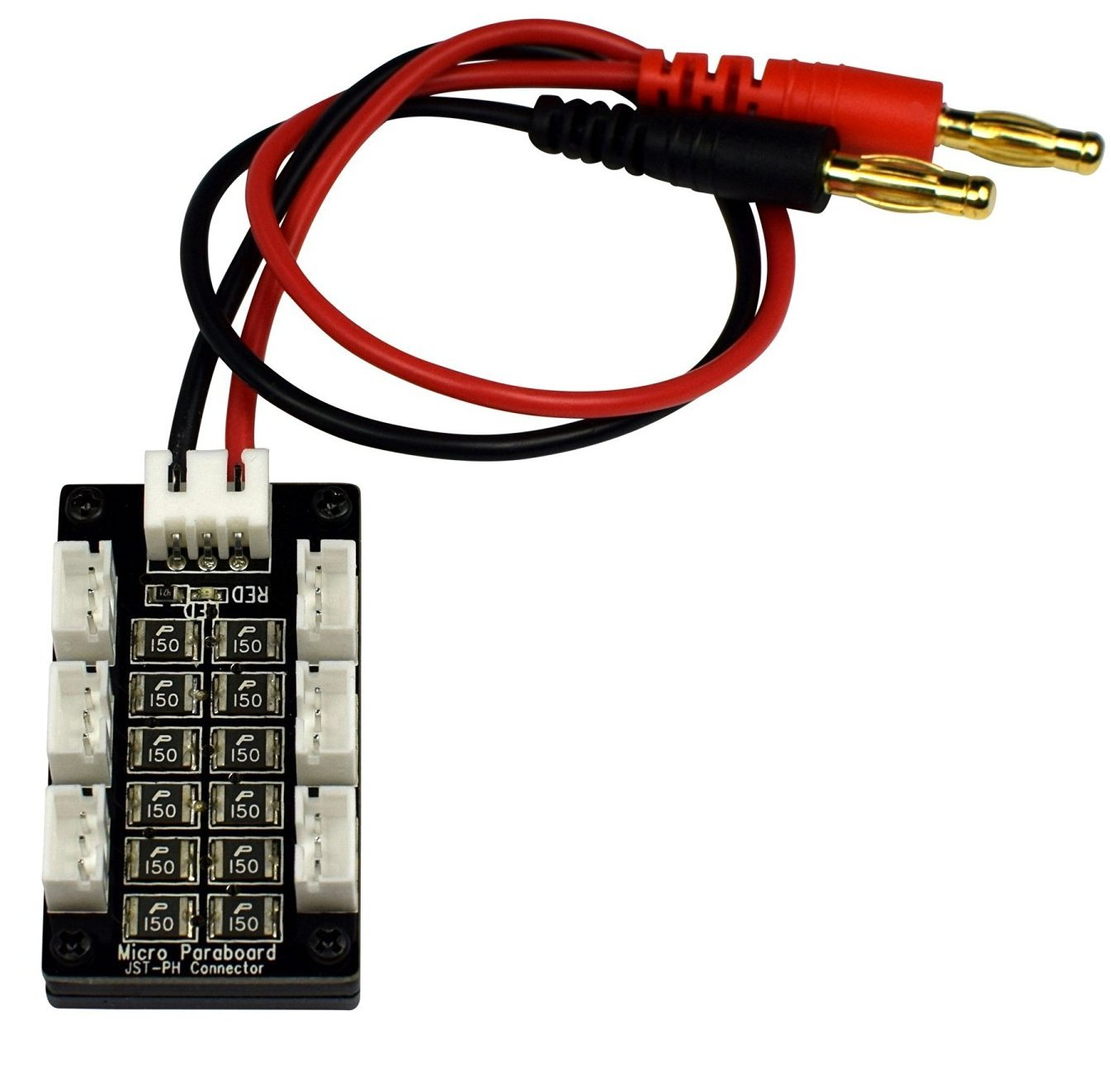 Apex RC Products 6 Battery Lipo Parallel Charging Board, Blade 130 X MCPX BL Parkzone & Eflite UMX 1461