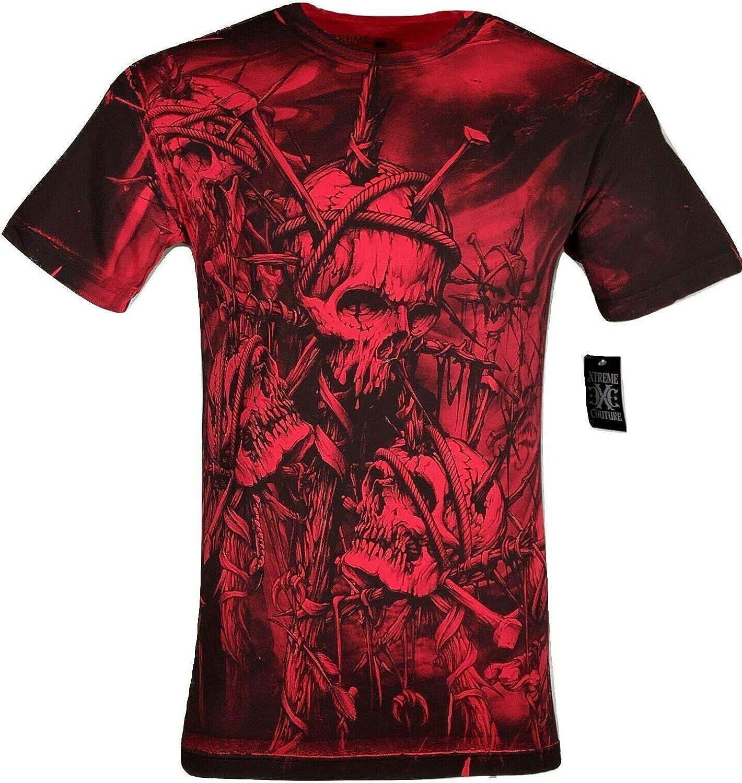 XTREME COUTURE by AFFLICTION Men T-Shirt SILENT SCREAM Cross Biker MMA GYM $40
