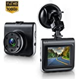 "Dash Cam,Amuoc Mini Dash Camera for Cars with FHD 1080P, 2.2"" LCD, 170 Degree Wide-Angle View Lens, G-Sensor, WDR, Loop Recording, Great Night Vision"