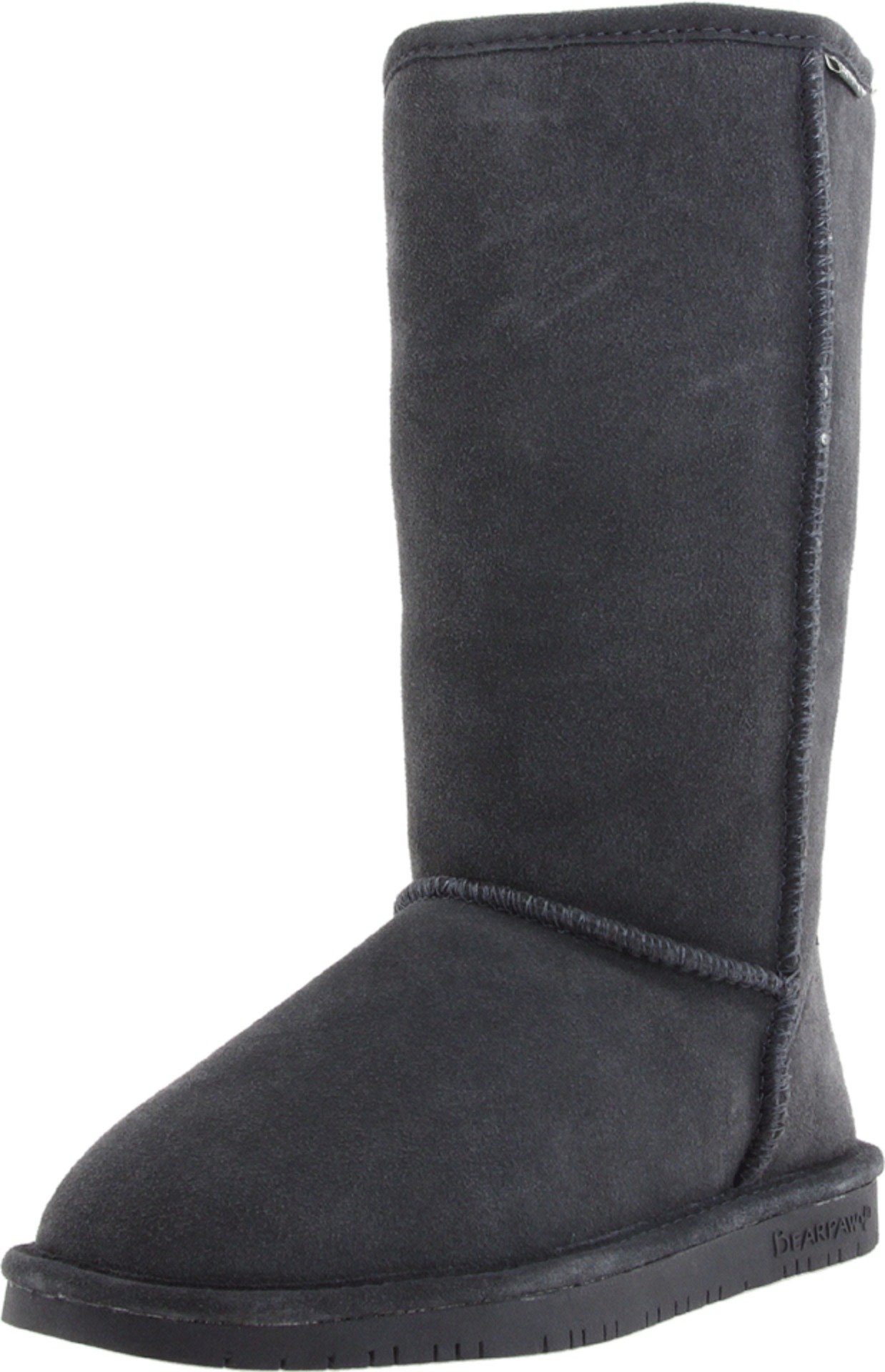 BEARPAW Women's Emma Tall Winter Boot, Charcoal, 10 M US