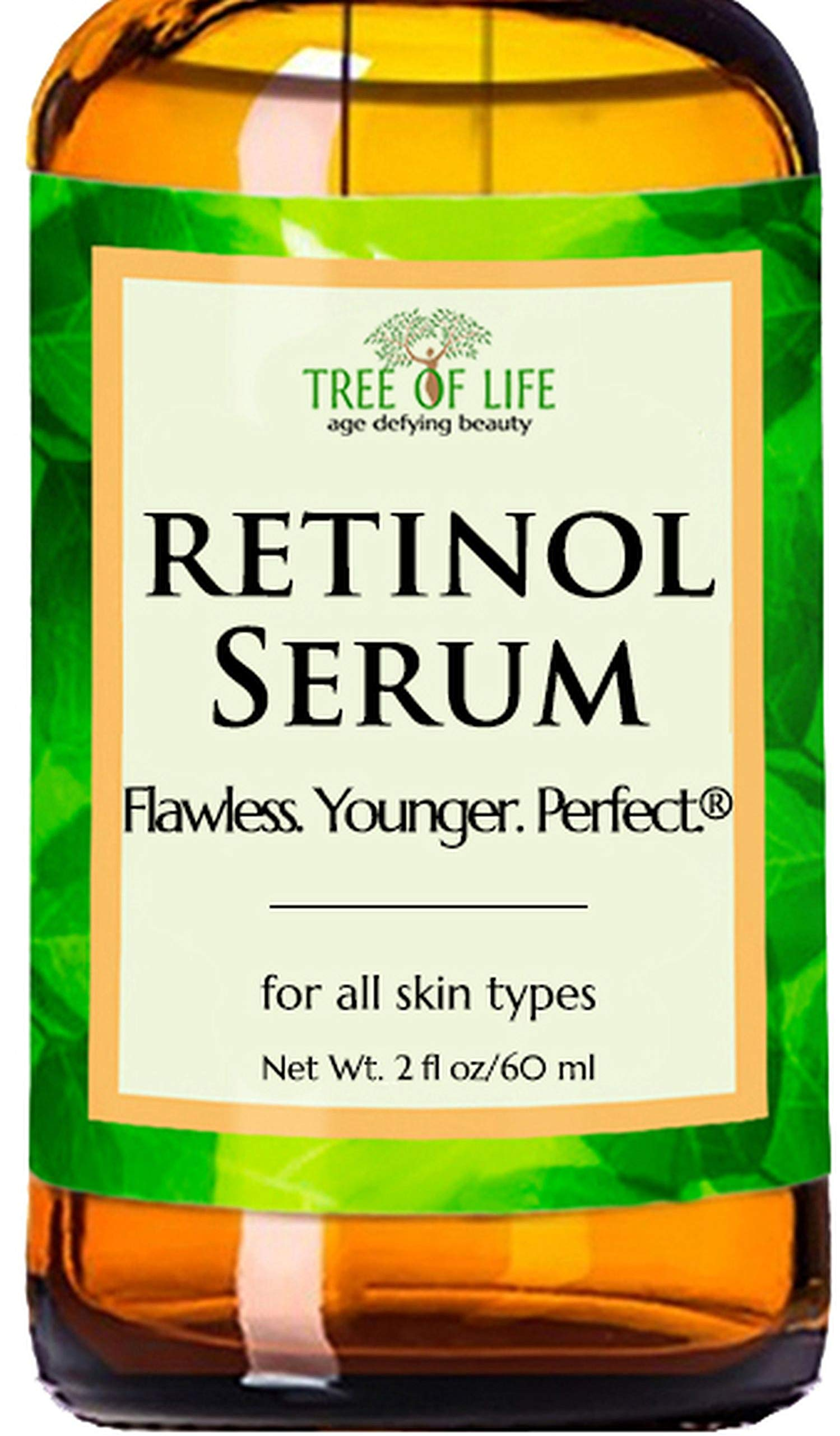 Retinol Serum for Face and Skin, DOUBLE SIZE (2oz) Anti Aging Serum, Clinical Strength by Flawless. Younger. Perfect.