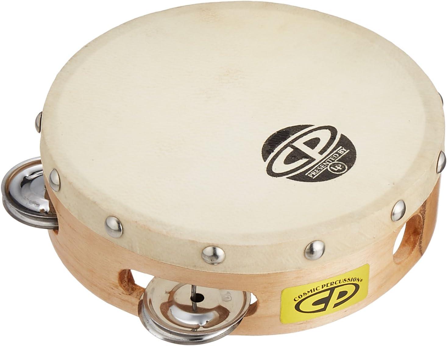 Latin Percussion CP376 6-Inch Tambourine With Head Single Row