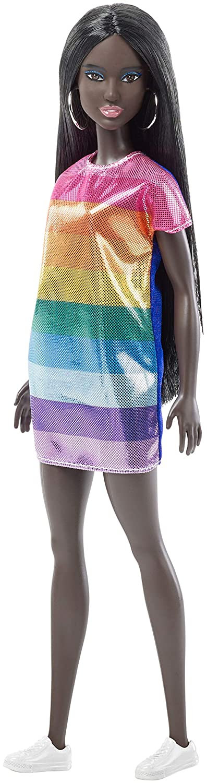 Barbie Fashionistas Rainbow Bright Doll, Original Mattel FJF50