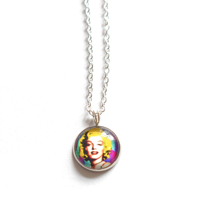 Marilyn Monroe Pop Art Silver Necklace