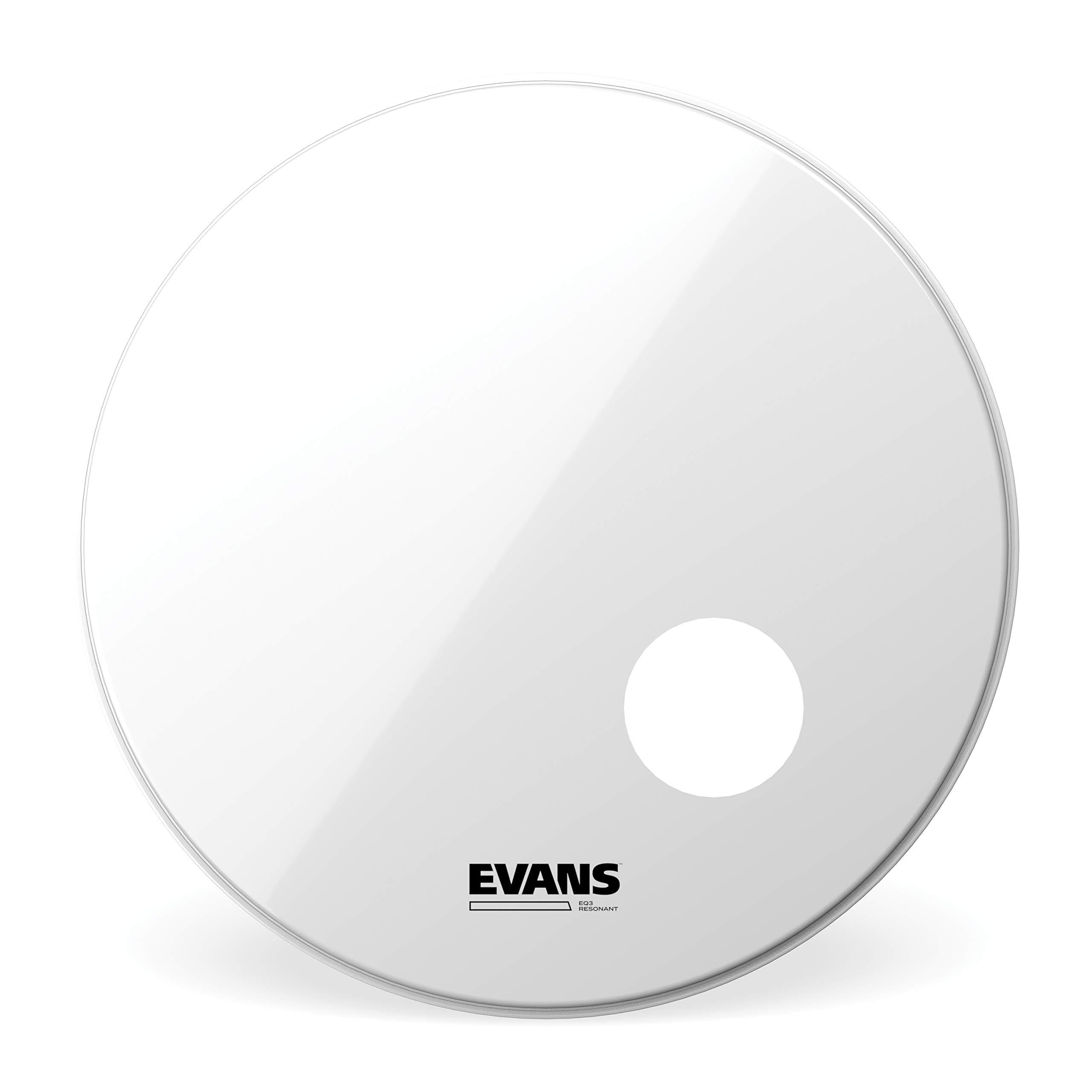 Evans EQ3 Resonant Smooth White Bass Drum Head, 20 Inch by Evans