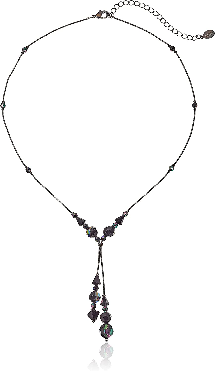 1928 Jewelry AB Beaded Adjustable Y-Shaped Necklace
