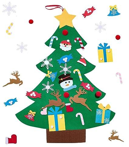Amazon Unves DIY Felt Christmas Tree Set 60 Pcs Ornaments 60 Ft Simple Felt Christmas Tree Pattern