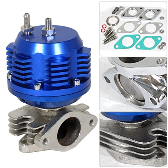 Amazon.com: For Ford Mustang V6 3.8L Twin Turbo Charger Manifold Downpipe Intercooler Wastegate Oil Line Kit Air Filter Boost Controller Upgrade Blue Set: ...