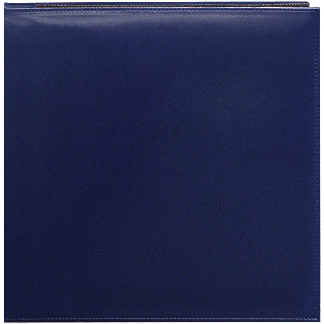 Pioneer Photo Albums 12 x 12-Inch Snapload Sewn Leatherette Memory Book, Navy Blue SL-12NB