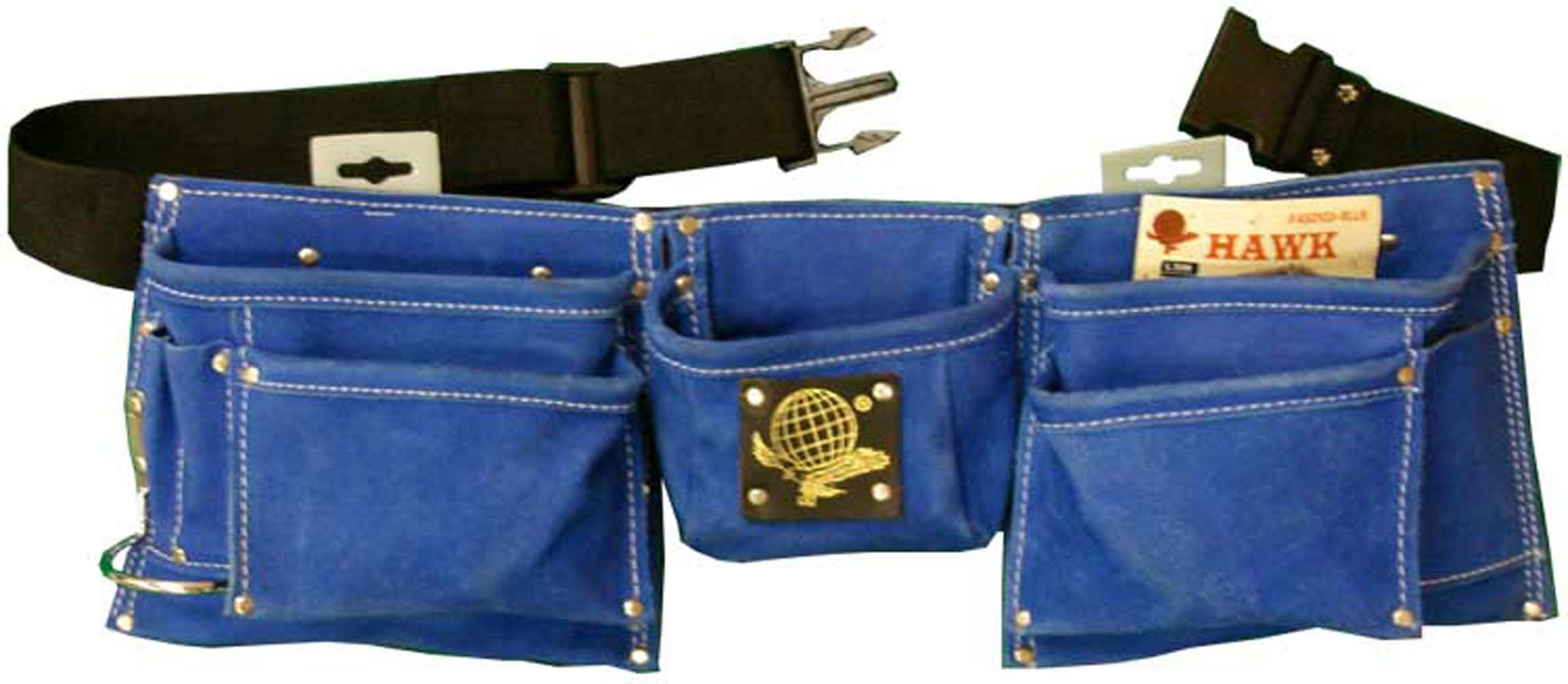 Heavy Duty Blue Suede Tool Belt with 8 Pockets