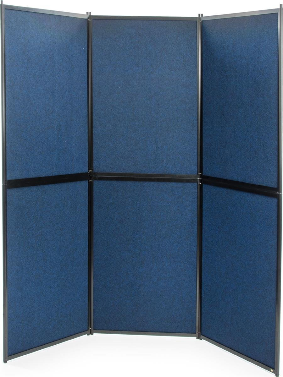 Displays2go Trade Show Presentation Board, 6 Panels, Double Sided, Comes with or without Lights (FSX7272BL)