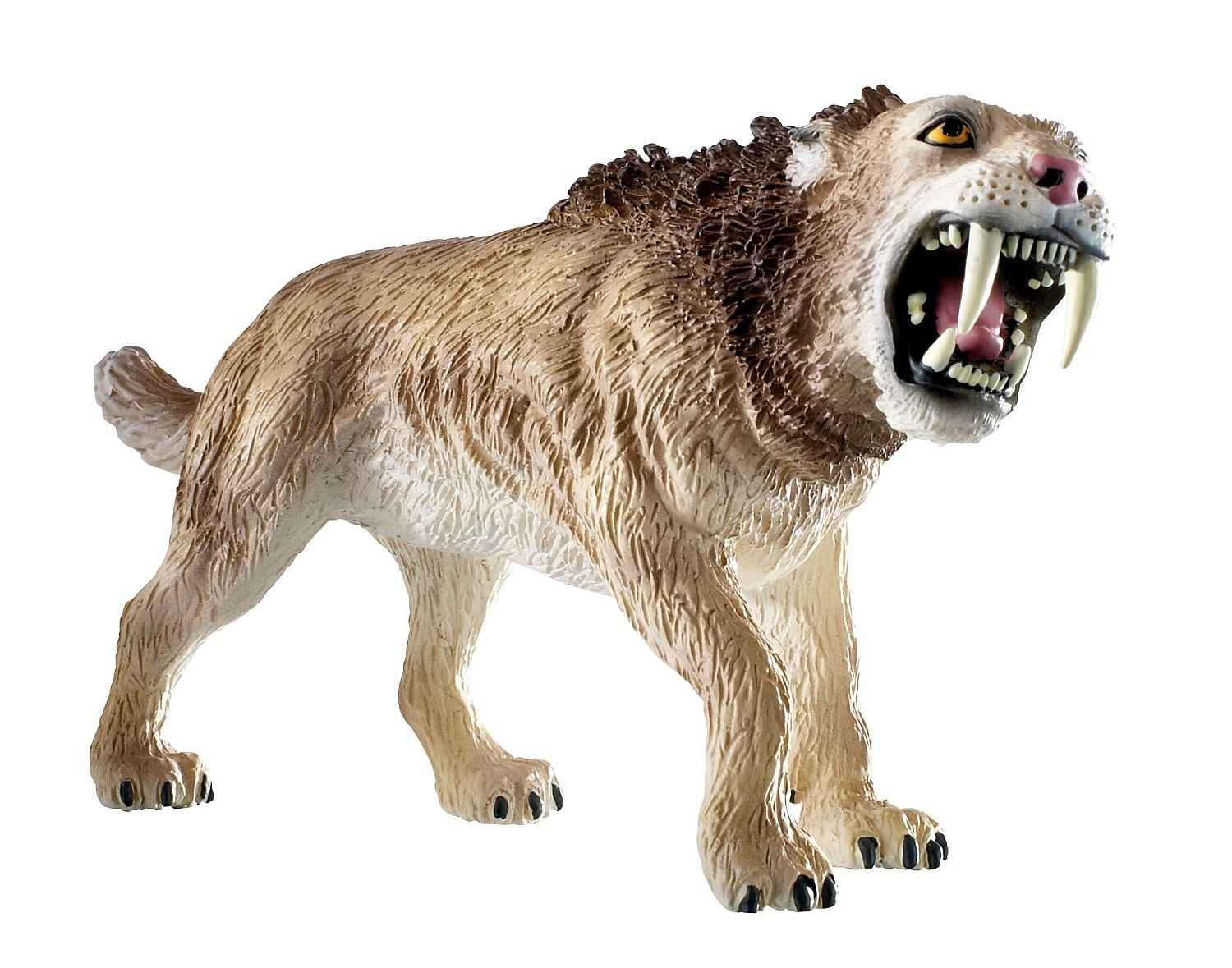 amazon com bullyland saber toothed tiger action figure toys u0026 games