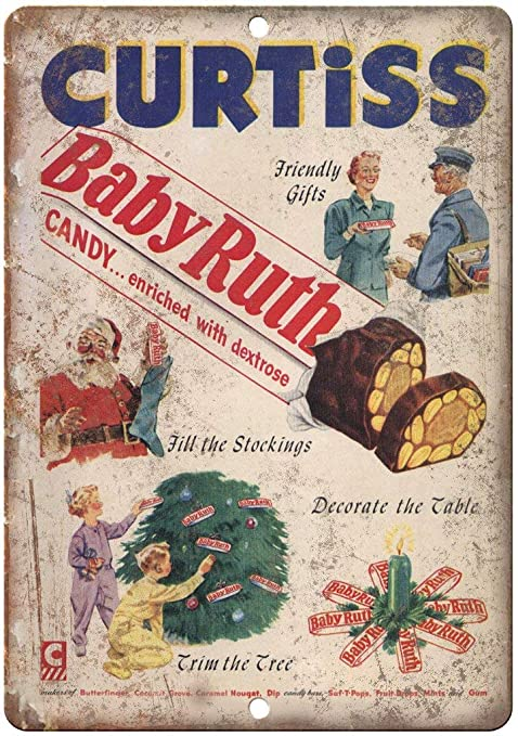 Shunry Curtiss Baby Ruth Chocolate Candy Bar Placa Cartel ...