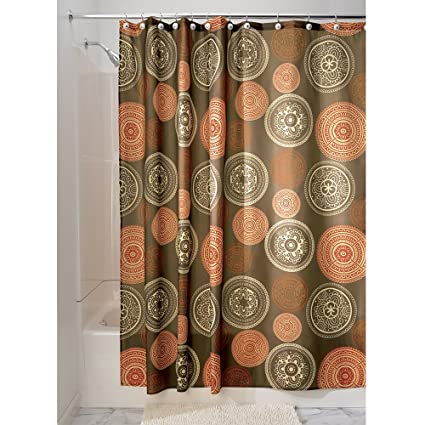 InterDesign Bazaar Fabric Shower Curtain