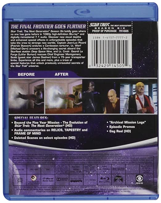 Amazon.com: Star Trek: The Next Generation - Season 6 [Blu-ray ...
