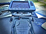Dek-it Boat Fish Finder and GPS, Electronics Mount, Most Solid Fishfinder Mounting Kit No Bouncing Fish Finder, Works with Most Marine Depth Finders and Locators Humminbird Garmin Lowrance, Bass Fishing