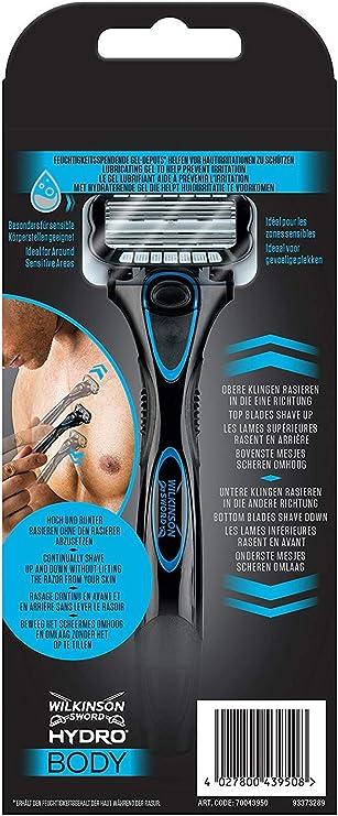 Wilkinson Sword Hydro BODY - Maquinilla Afeitadora Corporal Hombres con 5 Hojas Bidireccionales para una Depilación del Cuerpo en Ambos Sentidos, Incluye 1 Cuchilla: Amazon.es: Salud y cuidado personal