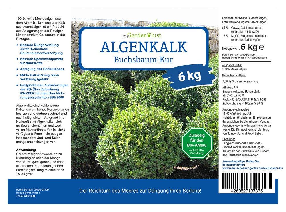 Berühmt myGardenlust Algenkalk Buchsbaumretter – Zulässig für den Bio #AG_97