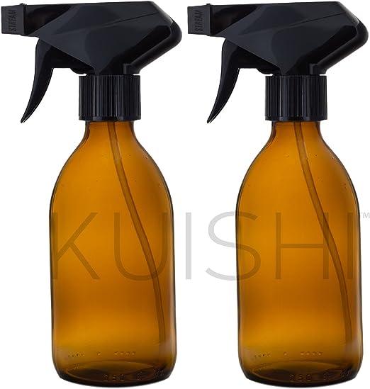 Botella de spray de cristal transparente por kuishi negro 1.000 ml vidrio transparente