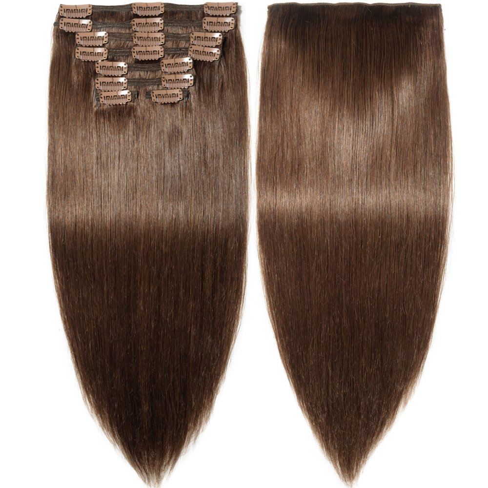 Amazon S Noilite Clip In Hair Extensions Human Hair Double