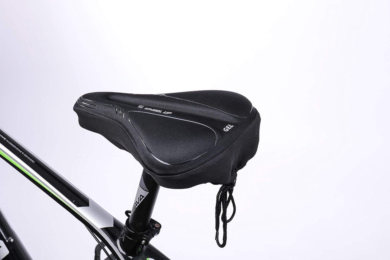 SUPERNIGHT Sill/ín de Bicicleta de Carretera c/ómodo de Gel Acolchado con Funda Resistente al Polvo y al Agua