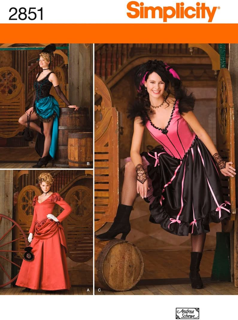 Simplicity Sewing Pattern 2851 Misses Costumes, RR (14-16-18-20)