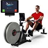 Sportstech RSX600 professional rowing machine - Air Magnetic Drive - smartphone control - fitness app - 16 resistance levels - pulse belt in value of 29.90£ included - competition mode - foldable