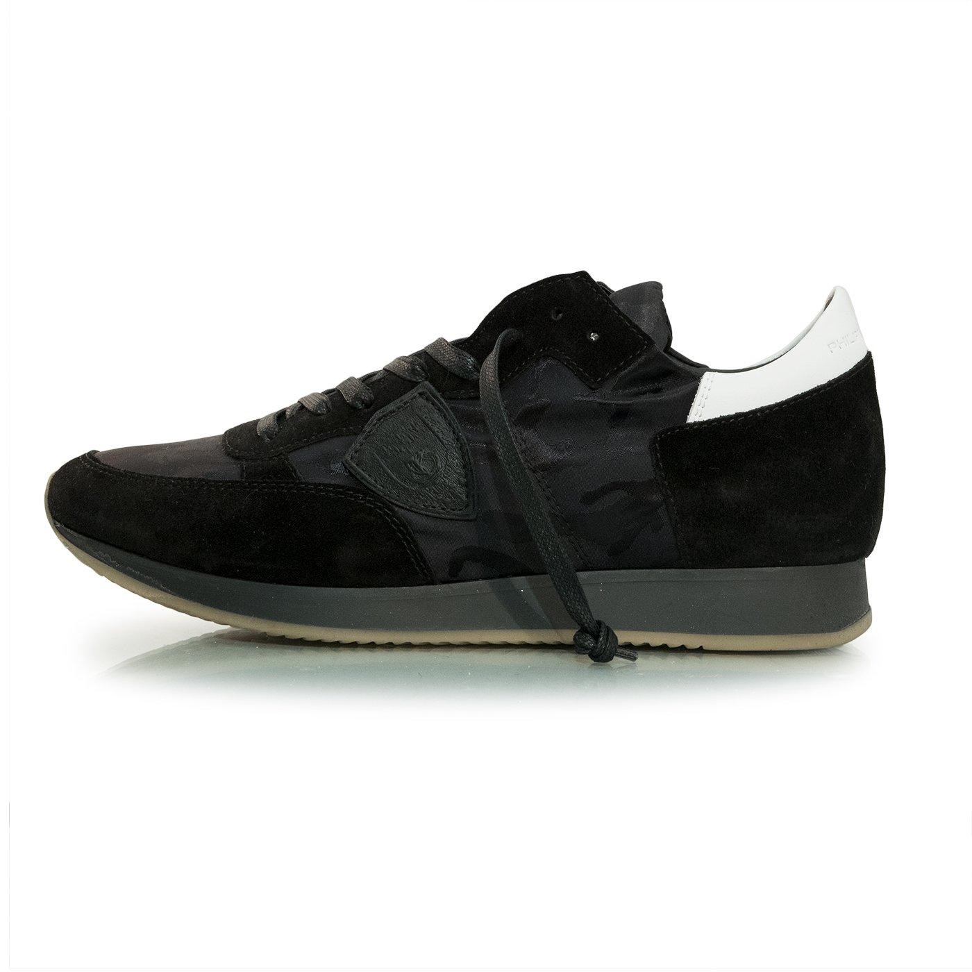 Philippe Model Zapatillas de Piel Para Hombre CamoBlack 43 EU