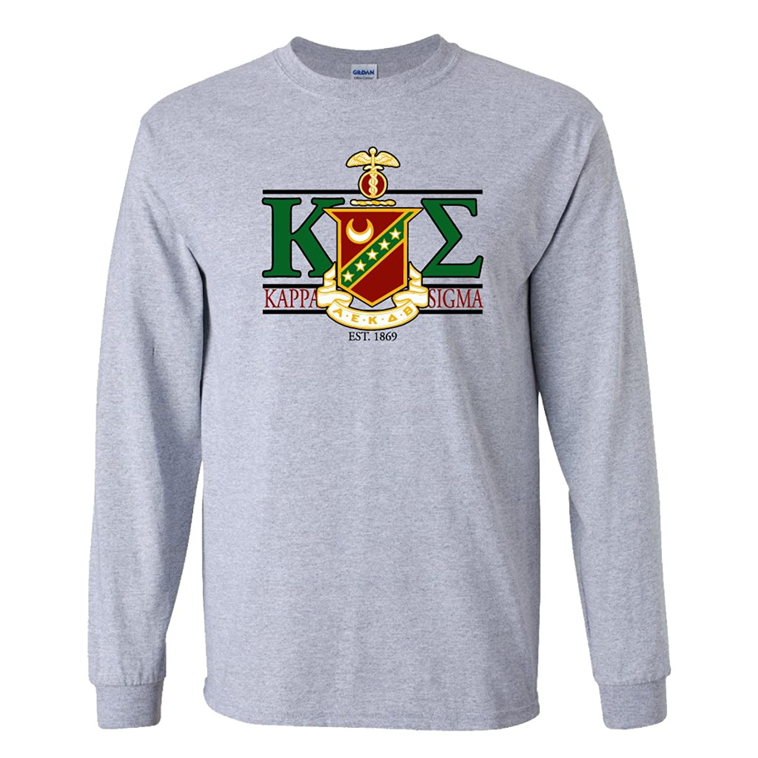 Design t shirt ultras - Amazon Com Kappa Sigma Long Sleeve T Shirt Greek Letters With Large Crest Design Clothing