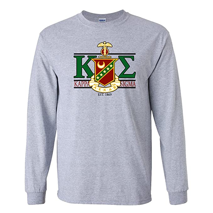 Greek Letter Before Kappa.Victorystore Apparel Kappa Sigma Greek Letters With Large Crest Design Long Sleeve T Shirt