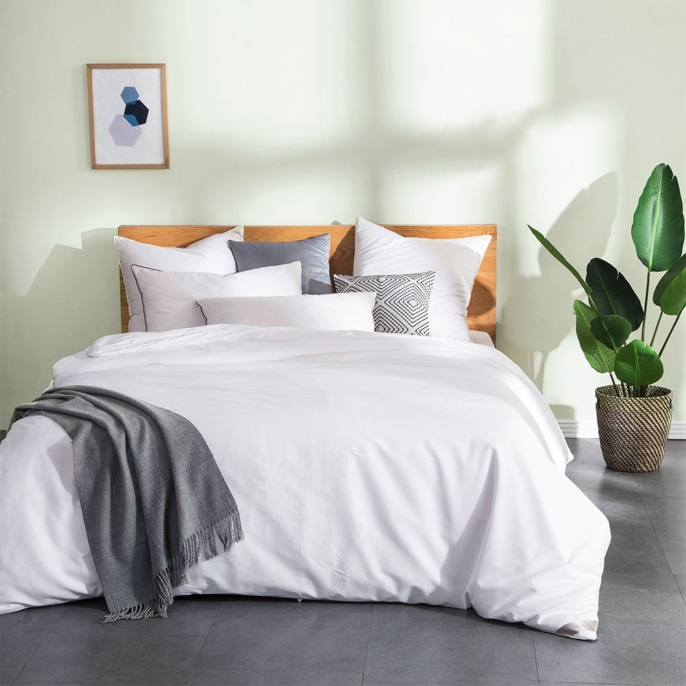 THXSILK Silk Comforter for Summer with Cotton Shell, Silk Filled Comforter,Silk Quilt, Silk Duvet -Ultra Soft, Hypoallergenic, Light Weighted-100% Top Grade Mulberry Silk, King Size, White
