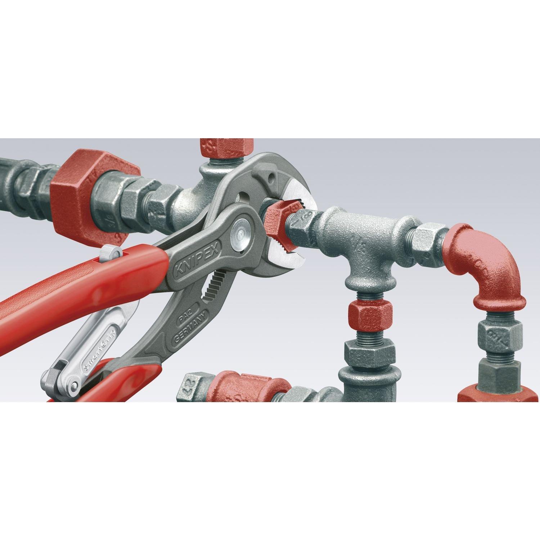 plastifi/ée et antid/érapante KNIPEX 85 01 250 SmartGrip Pince multiprise atramentis/ée gris autor/églable 250 mm