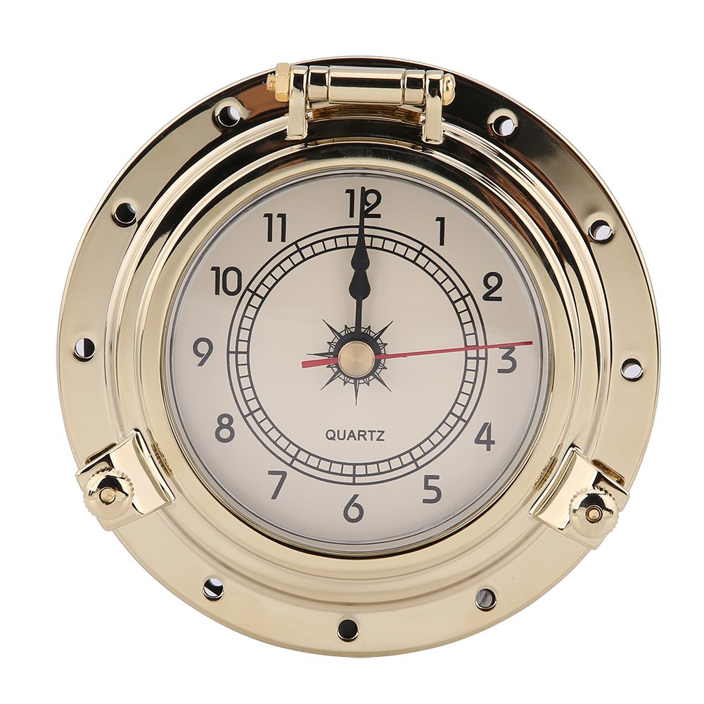 Acouto Rome Retro Barometer Clock Temperature Humidity Meter for Navigation Marine RV Yacht Boat SUV(barometer2)