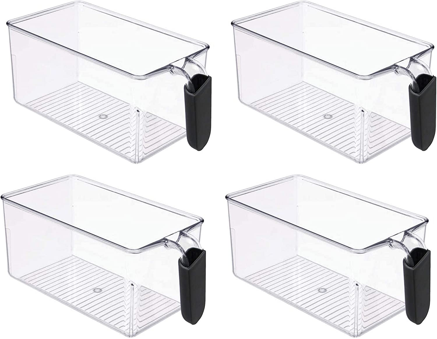 Clear food storage bins with handle, refrigertor organizer containers, canister sets for kitchen counter, BPA Free