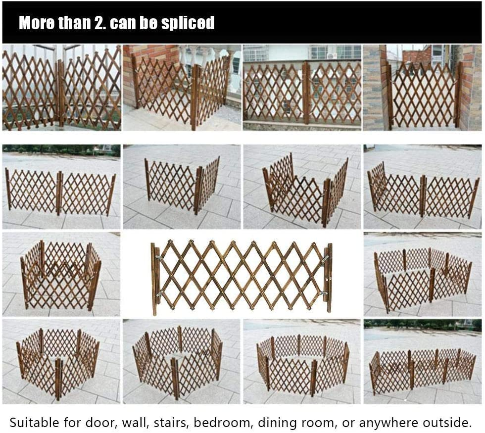 Pet Gate Wooden Dog Safety Gate,Expandable /& Folding Wood Fence,Adjustable Safety Guard Pet Door Barrier for Door Stairs Kitchen-M