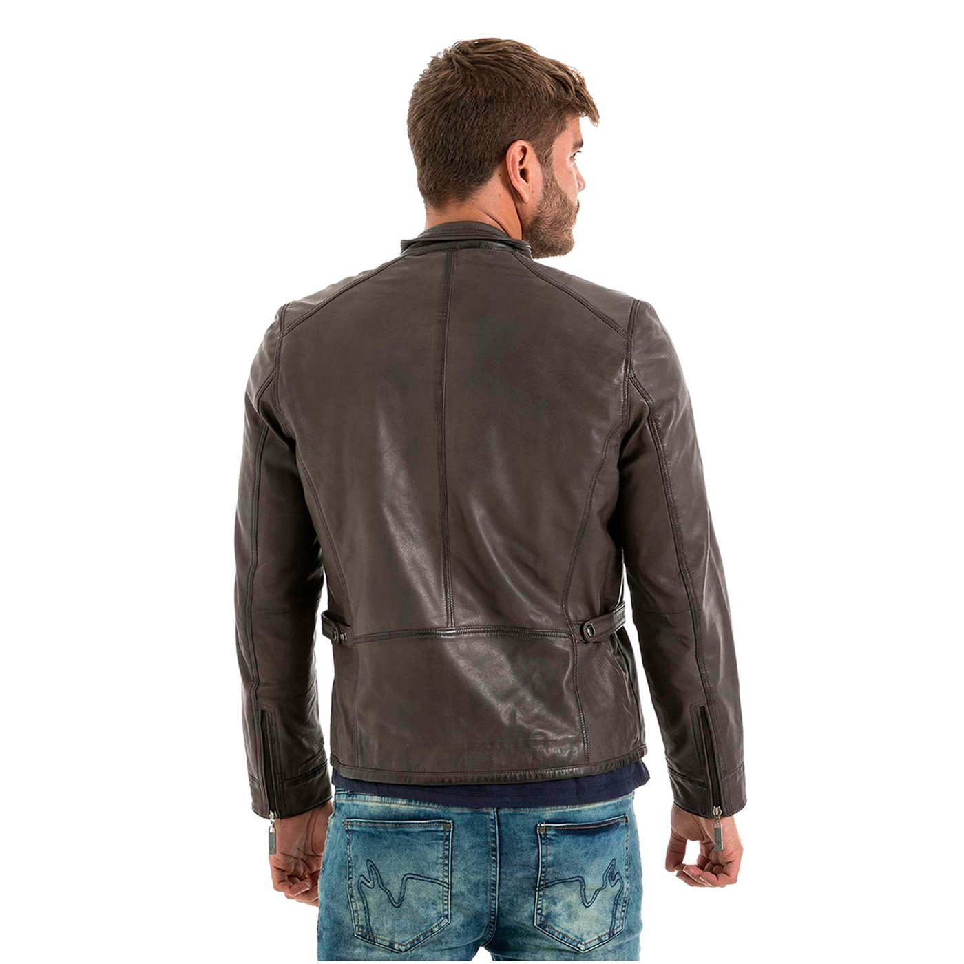 VELEZ Mens Stunning Genuine Colombian Leather Bomber Zip up ...