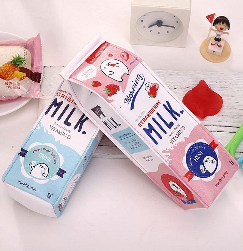 vikenner cartón de leche lápiz bolsa de almacenamiento ...