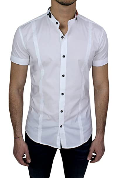 wholesale dealer 71292 d6257 Mat Sartoriale Camicia Uomo Casual Maniche Corte Bianca ...