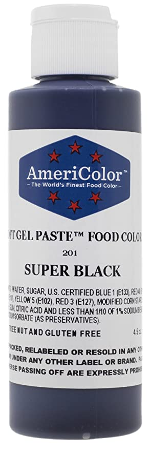 Amazon.com: Food Coloring AmeriColor - Super Black Soft Gel Paste ...