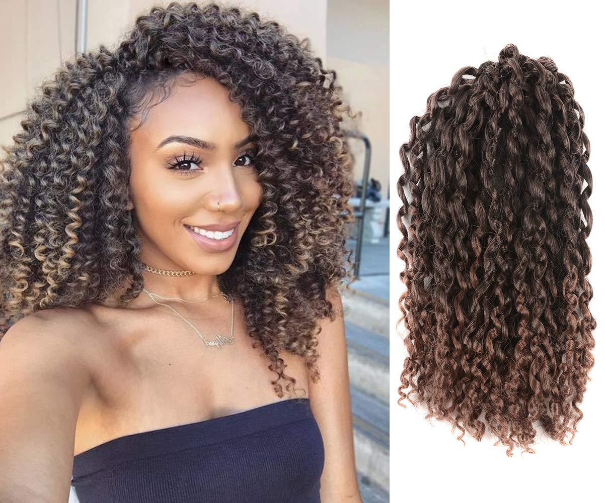 Amazoncom Difunee 6 Packs 9 Inch Jerry Curl Hair Marlybob Crochet