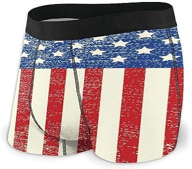 Web--ster American Flag Up and Down Calzoncillos bóxer de algodón ...