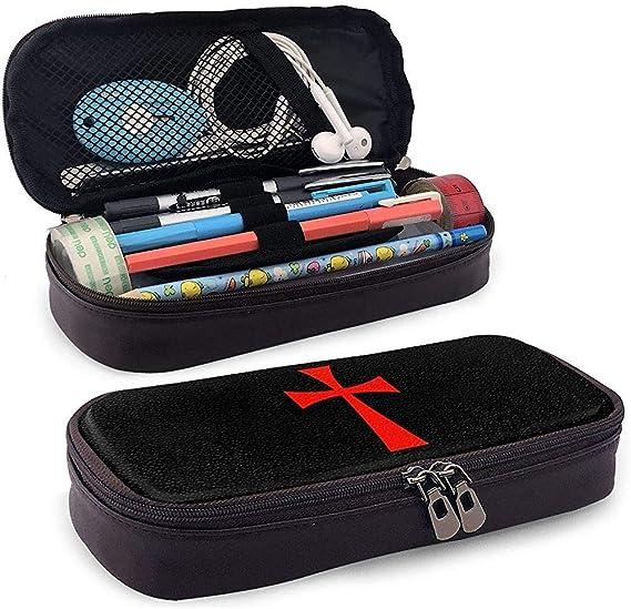 Cruz Caballeros Templarios Estuche para lápices Bolso para bolígrafo Bolso para maquillaje Bolsa para escuela Oficina Colegio: Amazon.es: Oficina y papelería