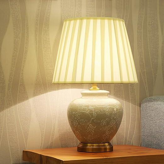 Flexo flexo escritorio Lampara de mesa de cerámica, E27 Fuente de ...