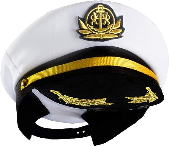 Children Captain Hat Yacht Boat Unisex Sailor Costume Cap Fancy Dress KS