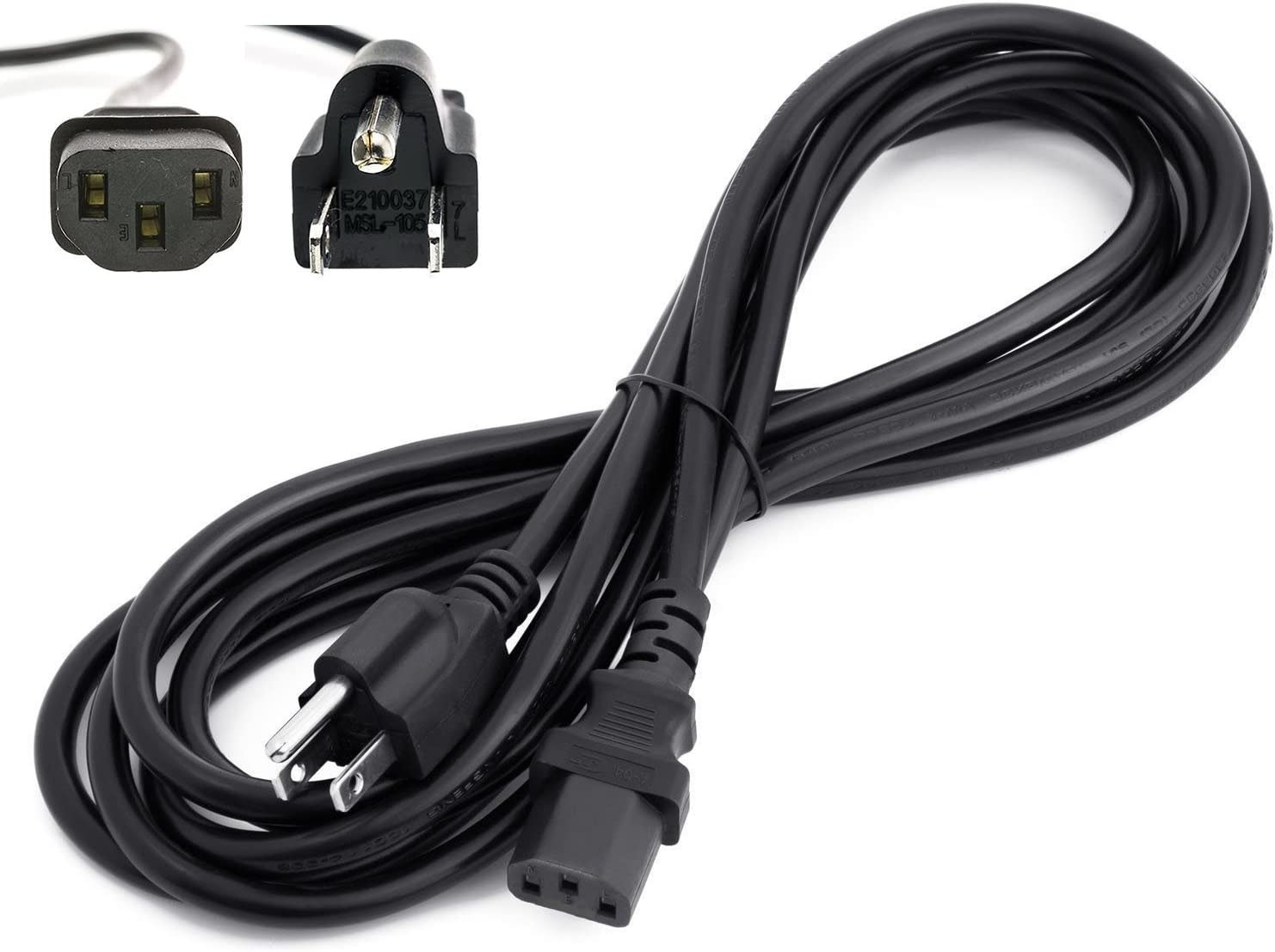 Amamax 15 Feet Extra Long AC Power Cord Cable for VIZIO TV with Life Time Warranty (UL Listed)