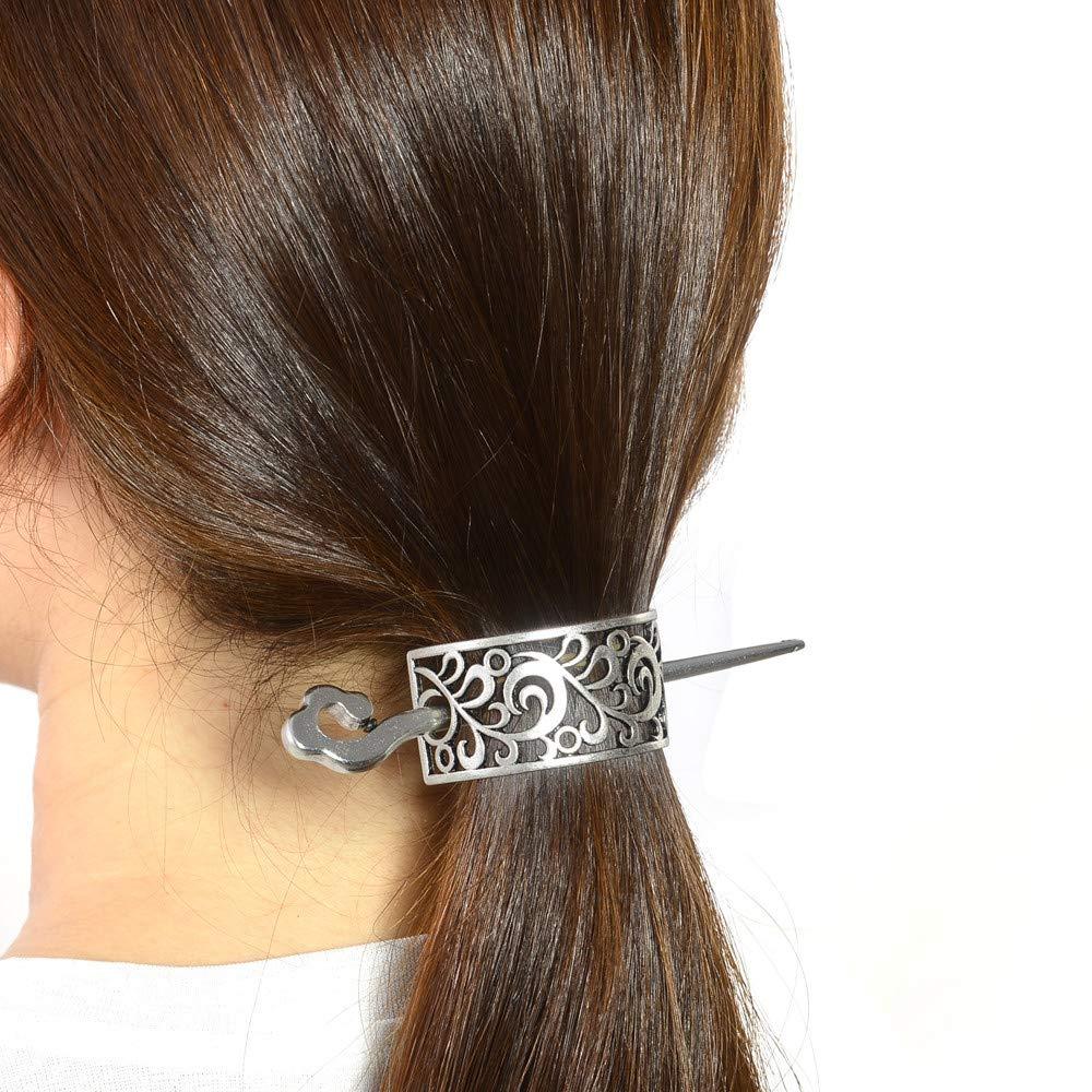 Barrettes Viking Hairpin Antique Metal Stick Slide Hair Clips Metal Hair Stick