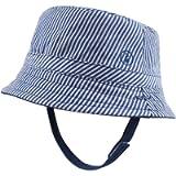 JANGANNSA Summer Baby Boys Hat Sun Protect Bucket Hat for Girls Wide Brim Cotton Beach Cap 0-2 Years
