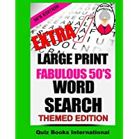 Extra Large Print Word Search Fabulous 50's Edition