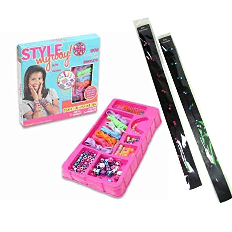 Christmas Gifts For Girls Age 12.Bead Bracelet Kit And Two Hair Gem Strands For Tween Girls