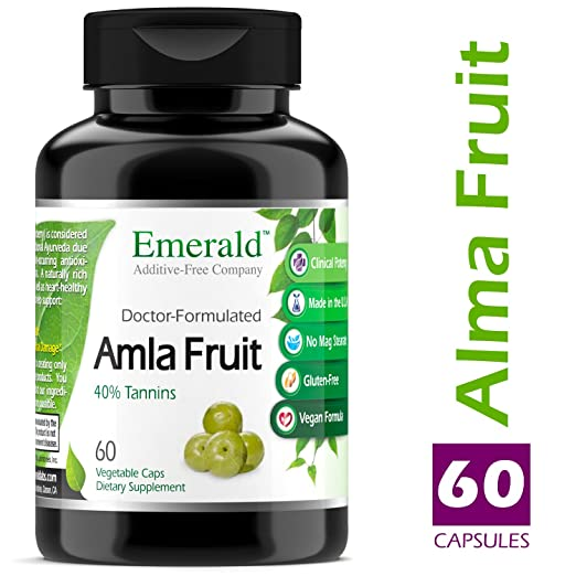 Amazon.com: Amla Fruit - Natural Source Vitamin C, Powerful Immune Support, Digestive Support, Sore Throat Relief, & Anti-Aging - Emerald Laboratories ...